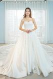 Vestido de novia Pera Sala Escote Corazón Natural Corte-A Formal
