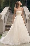 Vestido de novia Natural tul Cremallera Corte-A Sala Apliques