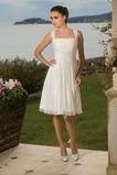 Vestido de novia Imperio Cintura Escote Cuadrado Verano Espalda medio descubierto