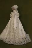 Vestido de Bautizo Corte princesa Tallas pequeñas Camiseta Satén Abalorio