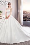 Vestido de novia Sin tirantes Natural Cordón Elegante Corte-A Drapeado