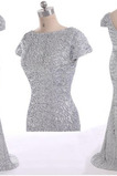 Vestido de fiesta Camiseta Corte Sirena Espalda medio descubierto Colores