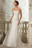 Vestido de novia Natural Moderno Corte Sirena Apliques Escote Corazón