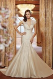 Vestido de novia Encaje Corte Sirena Abalorio Espalda medio descubierto