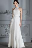 Vestido de novia Abalorio Verano Capa de encaje Sin mangas Hasta el suelo