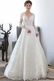 Vestido de novia Natural Capa de encaje Formal Triángulo Invertido Encaje