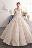 Vestido de novia Natural Corte-A Escote con Hombros caídos Pera Capa de encaje