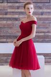 Vestido de dama de honor Sencillo Triángulo Invertido Otoño Cordón tul Natural