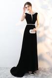 Vestido de fiesta Natural Espalda Descubierta Corte-A Drapeado Elegante