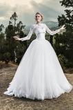 Vestido de novia primavera Encaje tul Cordón Barco Con Chaqueta