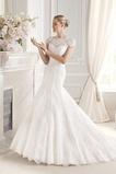 Vestido de novia largo Encaje Corte Sirena Manga tapada Sala Encaje