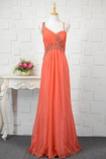 Vestido de noche primavera Sin mangas Corte-A Escote Asimètrico Natural