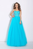 Vestido de fiesta primavera Corte-A Corpiño Acentuado con Perla Natural
