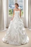 Vestido de novia Invierno Rosetón Acentuado Espalda Descubierta Volantes Adorno