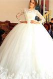 Vestido de novia Encaje Corte-A tul Cremallera Cola Barriba Natural