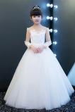 Vestido niña ceremonia Natural Cremallera Corte-A tul Encaje Joya