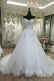 Vestido de novia Apliques Falta Cola Capilla Iglesia Corte princesa