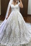 Vestido de novia Playa Natural Escote en V Sin mangas Pera Cremallera