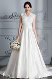 Vestido de novia Capa de encaje Natural Iglesia Triángulo Invertido