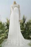 Vestido de novia Natural Corte-A Verano largo Pura espalda Encaje