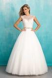 Vestido de novia tul Cola Barriba Natural Iglesia Apliques Corte-A