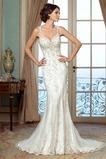 Vestido de novia Corte Sirena Espalda Descubierta tul Playa Queen Anne