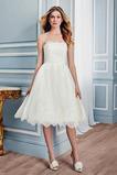 Vestido de novia Encaje Encaje Otoño Sencillo Cremallera Sin tirantes