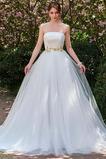 Vestido de novia Playa Dobladillos Corte-A Satén Sin tirantes Otoño