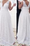 Vestido de novia Encaje primavera Cremallera Encaje Natural Triángulo Invertido
