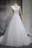 Vestido de novia Alto cubierto tul Fuera de casa Capa Multi Natural