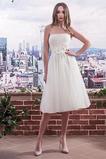 Vestido de novia primavera Cordón Hasta la Rodilla Blusa plisada tul