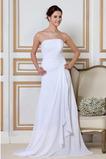Vestido de novia Sin mangas Cordón Natural Hasta el suelo Sin tirantes