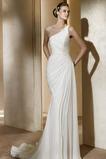 Vestido de novia Gasa Verano Sin mangas Corte Recto Hasta el suelo gris claro