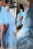 Vestido de fiesta sexy Alto Bajo primavera Cremallera Natural Asimétrico Dobladillo