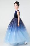 Vestido niña ceremonia Elegante Cremallera Joya Falta Natural Corte-A