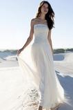 Vestido de novia Gasa Sin mangas Cintura Baja Botón Espalda Descubierta