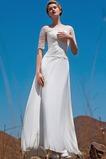 Vestido de novia Natural largo Con Chaqueta Abalorio Escote con Hombros caídos