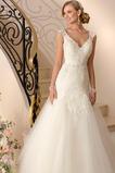Vestido de novia Apliques Encaje Cintura Baja Moderno Espalda medio descubierto