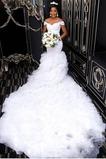 Vestido de novia Manga corta Satén Falta Escote con Hombros caídos Drapeado