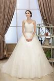 Vestido de novia tul Sin tirantes Arco Acentuado Cordón Sala Natural