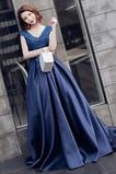 Vestido de fiesta Satén Natural Manzana Corte-A Abalorio primavera