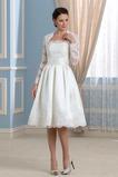Vestido de novia Sin tirantes Elegante Fuera de casa Natural Otoño Mangas Illusion