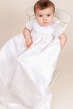 Vestido de Bautizo Corte princesa Capa de encaje Verano Escote con cuello Alto