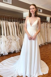 Vestido de novia Cola Corte Gasa Triángulo Invertido Natural Escote de Tirantes Espaguetis