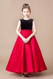 Vestido niña ceremonia Corte-A Cremallera Arco Acentuado Natural Sin mangas