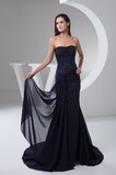 Vestido de noche Corte Sirena Gasa Natural Abalorio Falta Formal