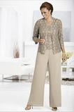 Vestido de madre traje de pantalones Alto cubierto Manga de longitud 3/4 Escote Cuadrado