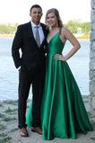 Vestido de noche Cremallera Formal Natural Escote en V Falta Corte-A