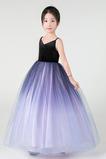 Vestido niña ceremonia Elegante Corte-A Verano Falta tul Cremallera