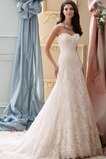 Vestido de novia Sin mangas Natural primavera Corte-A Cola Capilla Escote Corazón